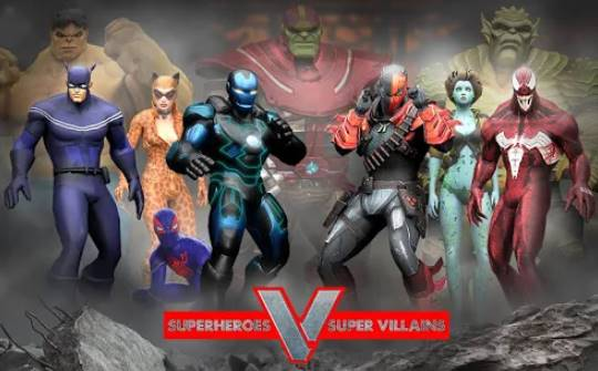 superheroes vs super villains real fighting game