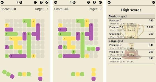 Поверхность тримино увеличить площадь казуальной игры APK ANdroid