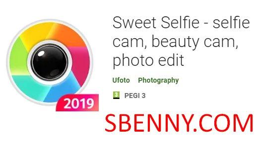 Sweet Selfie - selfie cam, beauty cam, photo edit + MOD