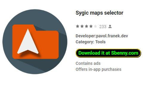 Sygic Maps Selector Full Cracked Version MOD APK Download
