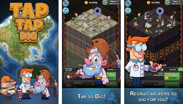 Tap Tap Dig - Idle Clicker Game Unlimited Diamonds MOD APK