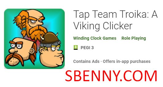 tippen Sie auf Team Troika einen Wikinger-Clicker