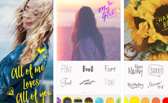text on pictures write words text pixel fonts APK Android