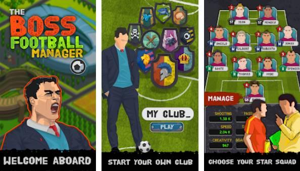 la gestione del calcio della squadra di calcio del boss