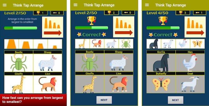 think tap arrange brain game APK Android