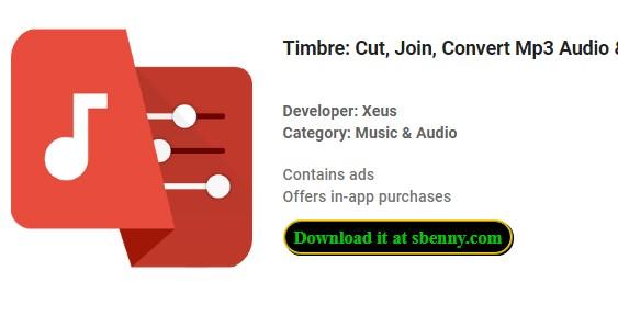 timbre cut join конвертировать mp3 аудио и mp4 видео
