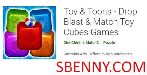 Spielzeug und Toons Drop Blast und Match Toy Cubes Spiele