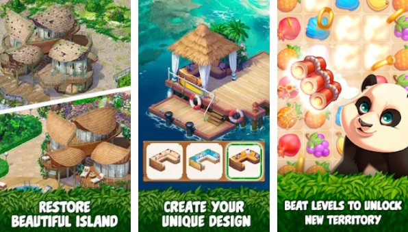 Tropical Forest: Match 3 Story Unlimited Coins MOD APK