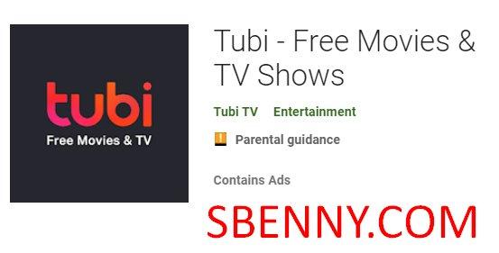 Tubi películas gratis y programas de televisión
