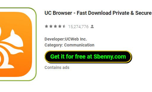 UC Browser - Fast Download Private & Secure APK Download