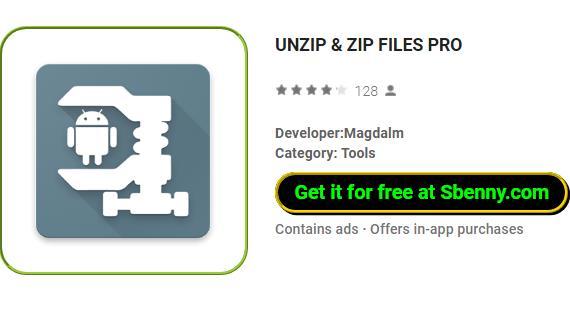 UNZIP & ZIP FILES PRO MOD APK Free Download