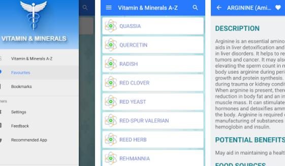 Vitamina u minerali offline APK Android