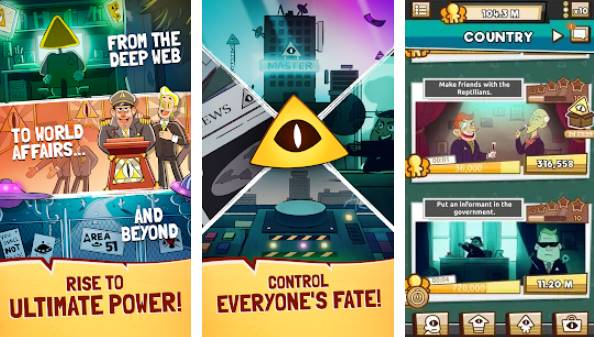 nous sommes illuminati conspiracy simulator clicker APK Android
