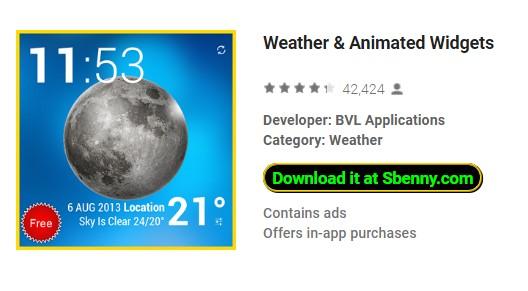 Weather & Animated Widgets Full Premium Version Pro MOD APK