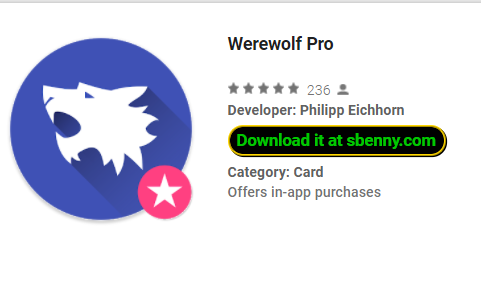 Werewolf Pro Full Version unlocked MOD APK Download