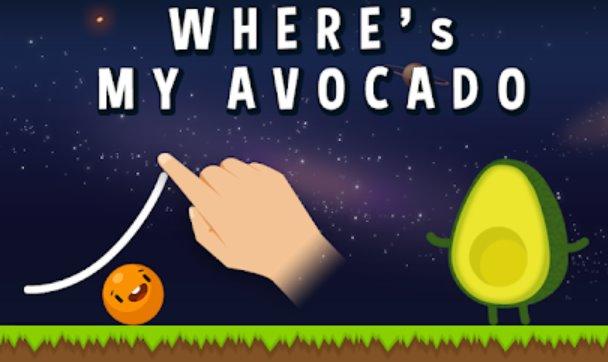 Where's My Avocado? Draw lines Unlimited Money MOD APK