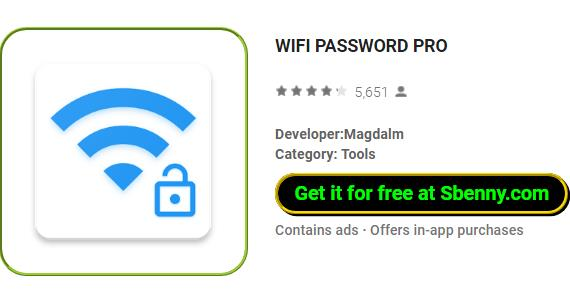WIFI PASSWORD PRO MOD APK Android Free Download