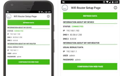 Configuración de la página wifi router Android APK