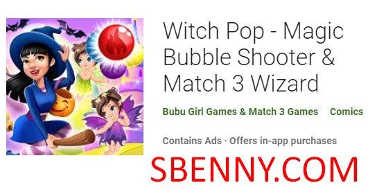 sorcière pop magique bubble shooter et match 3 wizard