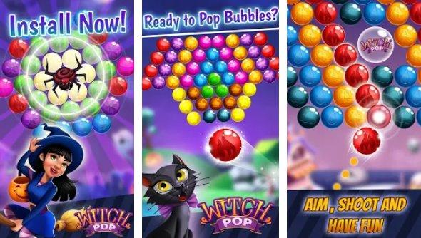 sorcière pop shooter bulle magique et match 3 assistant APK Android