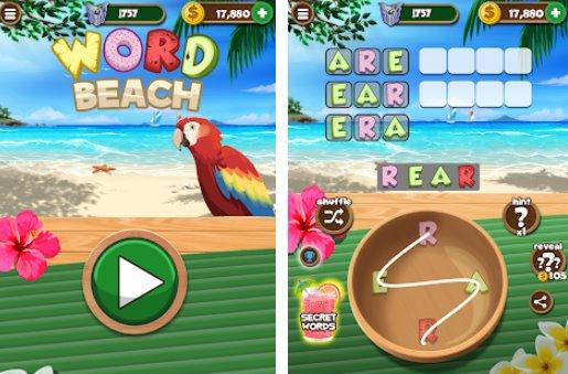 Wort Strand verbinden Buchstaben Spaß Wortsuche Spiele