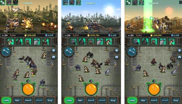 guerre mondiale des bêtes détruire le monde dans un RPG inactif APK Android