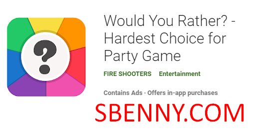 would you rather hardest choice for party game