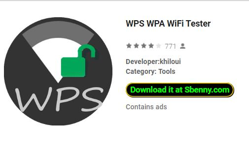 WPS WPA WiFi Tester MOD APK Android Download