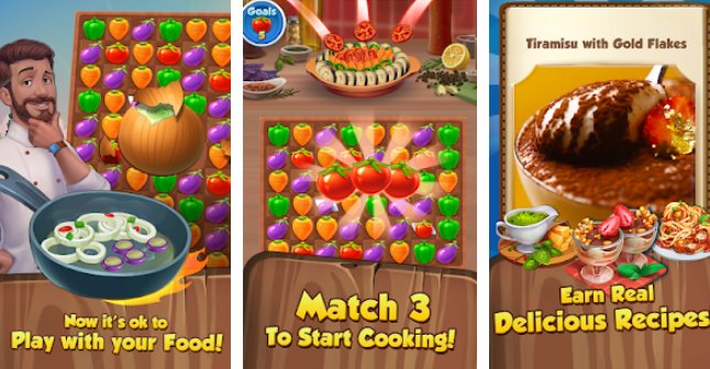 Yummy Drop! - A Free Match 3 Puzzle Cooking Game + MOD