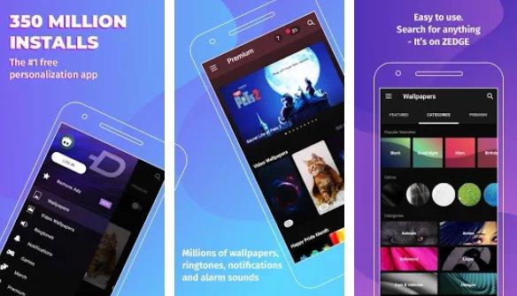 zedge fondos de pantalla y tonos de llamada APK Android