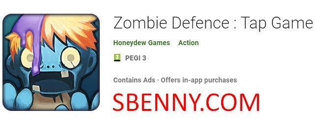 juego de tap de defensa zombie