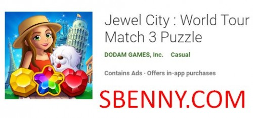 Jewel City: World Tour Match 3 Puzzle + MOD