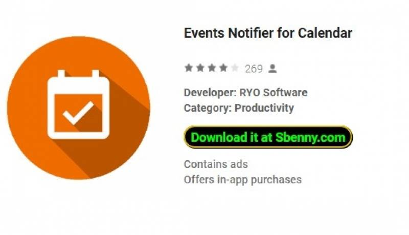 Events Notifier for Calendar + MOD