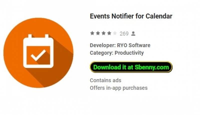 Notificador de Eventos para Calendário + MOD
