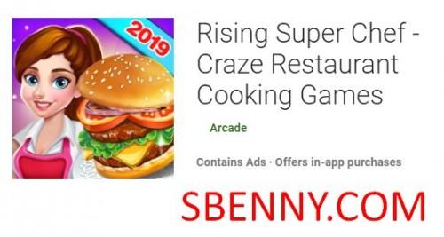 떠오르는 슈퍼 요리사 - Craze Restaurant 요리 게임 + MOD
