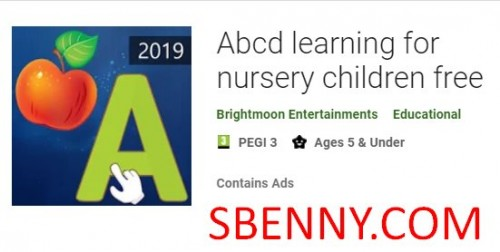 Abcd learning for nursery children free