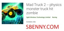 Mad Truck 2 - physics monster truck hit zombie + MOD