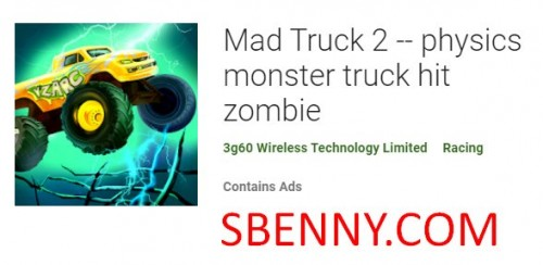 Mad Truck 2 - Física Monster Truck Hit Zombie + MOD