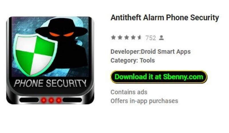 Antitheft Alarm Phone Security + MOD