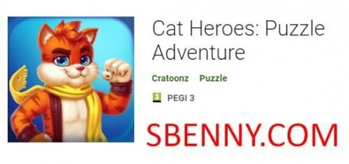 고양이 영웅 : 퍼즐 모험 + MOD