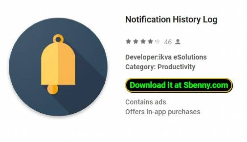 Registro de histórico de notificação + MOD