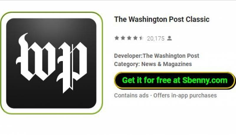 El Washington Post Classic + MOD