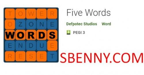 Cinq mots