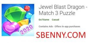 Jewel Blast Dragon - Match 3 Puzzle + MOD