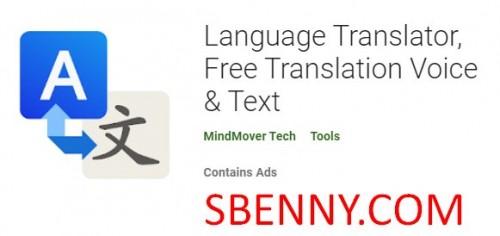 Traducteur de langue, traduction gratuite Voice & amp; Texte + MOD