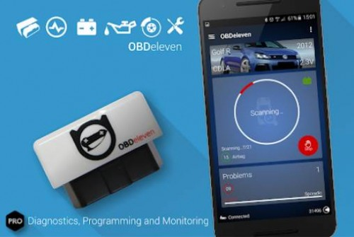 Application de diagnostic de voiture OBDeleven PRO VAG OBD2 Scanner + MOD