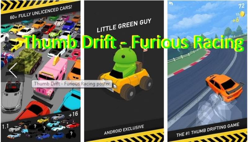 Daumen Drift - Fast & amp; Furious One Touch Car Racing + MOD