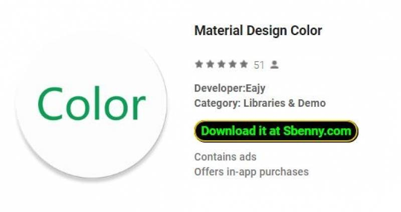 Colore del materiale di progettazione