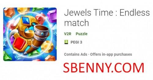 Jewels Time: бесконечный матч + MOD