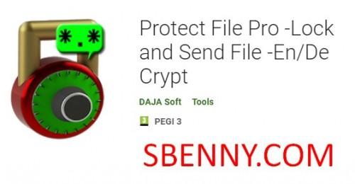 Proteggi File Pro - Blocca e invia file - En / De Crypt